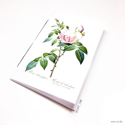 """Блокнот белый """"Роза"""" А6 (726)"""