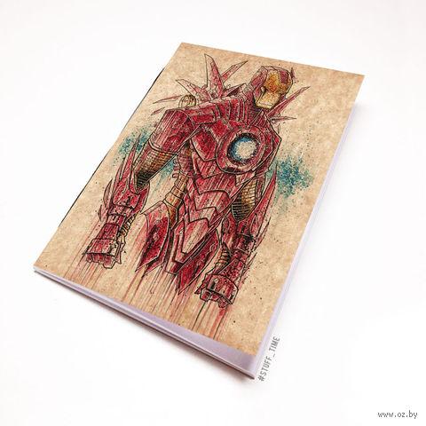 """Блокнот крафт """"Железный человек"""" (А5; арт. 866) — фото, картинка"""