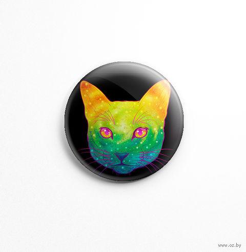 "Значок маленький ""Кот"" (арт. 387) — фото, картинка"
