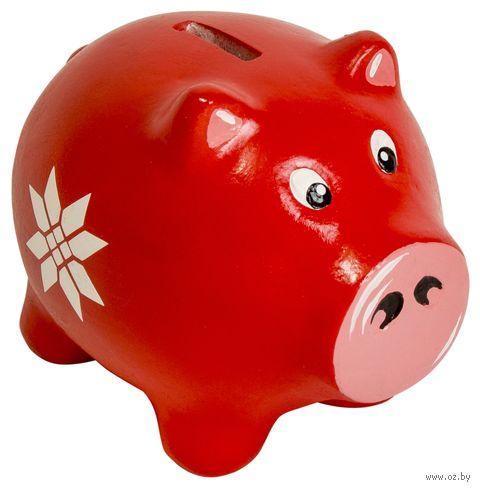 """Копилка """"Маленькая свинка. Богатство"""" (красная) — фото, картинка"""