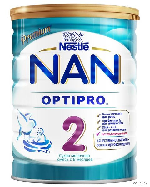 """Сухая молочная смесь NAN 2 OPTIPRO """"Premium"""" (800 г) — фото, картинка"""