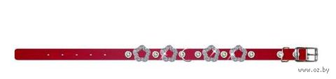 """Ошейник """"Collar brilliance"""" с украшением для щенков и собак мелких пород (22-30 см, красный, арт. 38583)"""