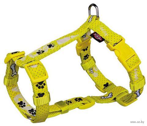 "Шлея для собак ""Modern Art H-Harness Woof"" (размер S-M, 40-65 см, желтый, арт. 15195)"