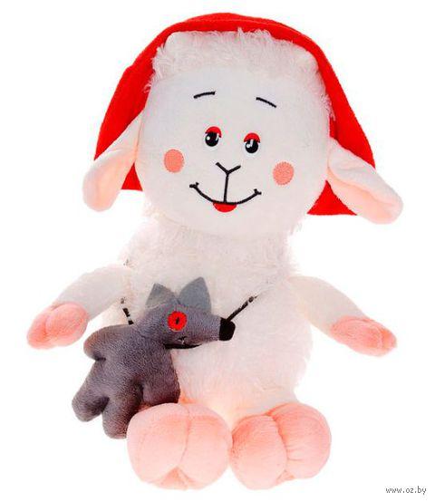 "Мягкая игрушка ""Овечка Красная Шапочка"" (30 см) — фото, картинка"