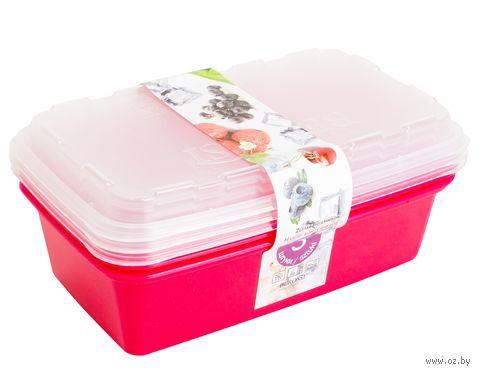"""Набор контейнеров для заморозки """"Zip"""" (3 шт.; сангрия) — фото, картинка"""