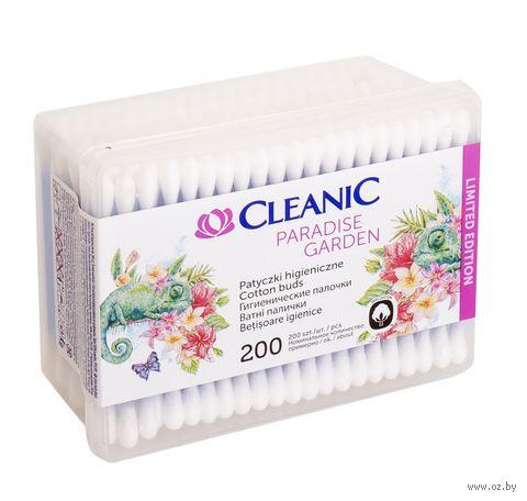 """Ватные палочки """"Cleanic"""" (коробка; 200 шт.) — фото, картинка"""