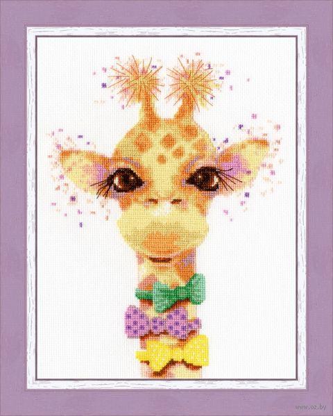 "Вышивка крестом ""Влюблённый жираф"" (225х165 мм) — фото, картинка"