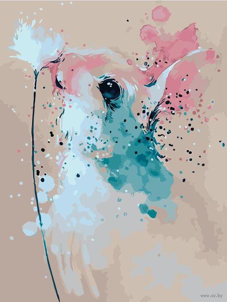"Картина по номерам ""Кролик с клевером"" (400х500 мм) — фото, картинка"