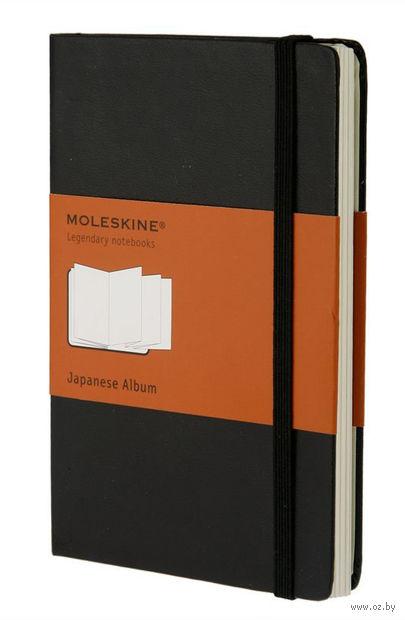 """Записная книжка Молескин """"Classic"""" в японском стиле (большая; твердая черная обложка)"""