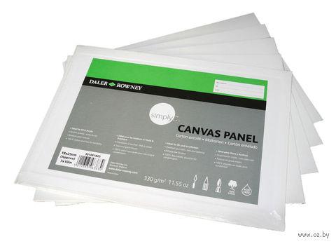 """Холст """"Simply"""" грунтованный хлопчатобумажный на картоне (50х70 см)"""