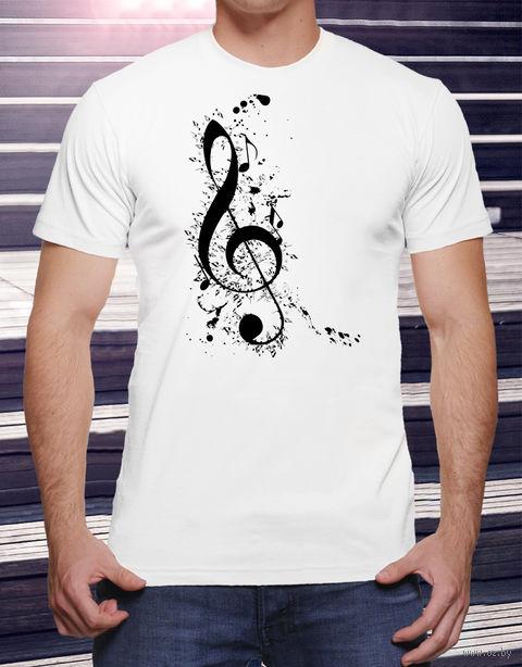 "Футболка мужская ""Music"" (размер 52; art. 17)"
