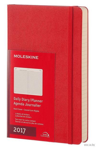 """Ежедневник Молескин """"Classic"""" на 2017 год (большой; твердая красная обложка)"""