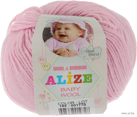 ALIZE. Baby Wool №185 (50 г; 165 м) — фото, картинка