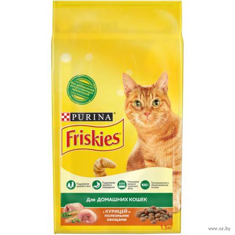 Корм сухой для домашних кошек (1,5 кг; курица и садовая зелень) — фото, картинка