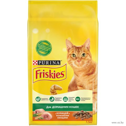 Корм сухой для кошек (1,5 кг; курица и садовая зелень) — фото, картинка