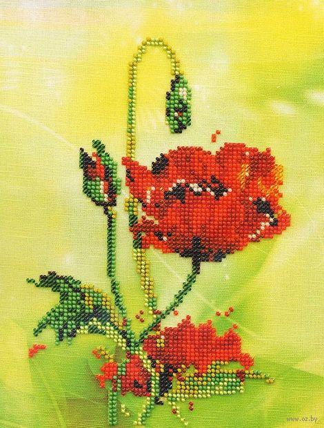 """Вышивка бисером """"Цветком невинным выглядеть и быть..."""" (140х160 мм) — фото, картинка"""