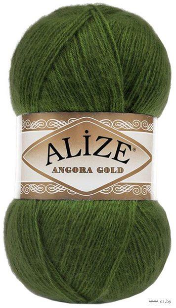 """Пряжа """"ALIZE. Angora Gold №118"""" (100 г; 550 м; зеленая трава) — фото, картинка"""