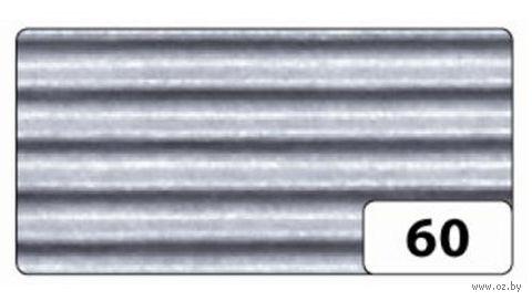 Картон гофрированный (серебро; 0,5х0,7 м)
