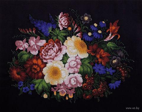 """Вышивка бисером """"Жостовские цветы"""" (430х340 мм) — фото, картинка"""