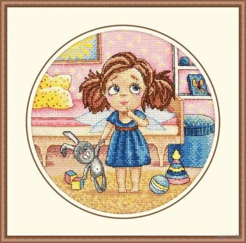 "Вышивка крестом ""Утро Алисы"" (200х200 мм) — фото, картинка"
