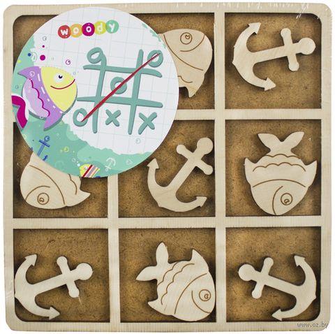 """Деревянная игрушка """"Крестики-нолики. Рыбка и якорь"""" — фото, картинка"""