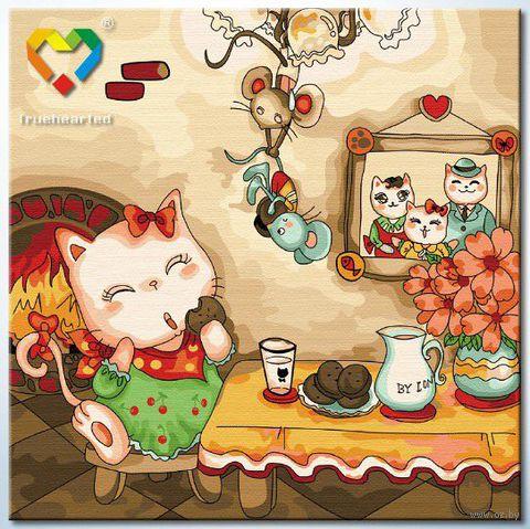 """Картина по номерам """"Кошкин дом"""" (300x300 мм; арт. HB3030030)"""