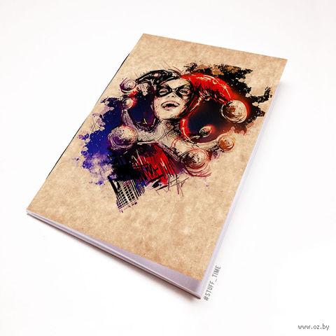 """Блокнот крафт """"Харли Квинн"""" (А5; арт. 884) — фото, картинка"""