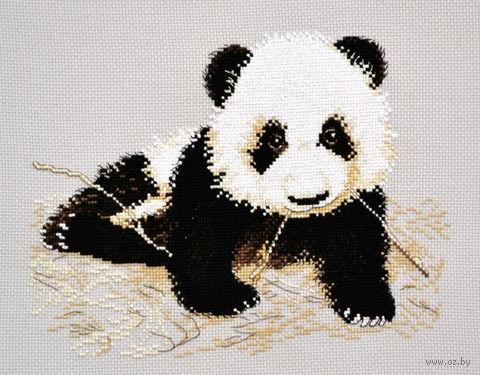 """Вышивка крестом """"Маленькая панда"""" (250x190 мм) — фото, картинка"""