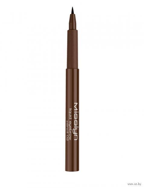 "Карандаш для бровей ""Liquid Eyebrow Pencil"" (тон: 02) — фото, картинка"