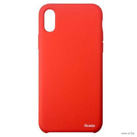 Чехол Olmio Velvet для iPhone X (красный) — фото, картинка