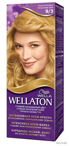 """Крем-краска для волос """"Wellaton. Интенсивная"""" (тон: 9/3, золотой блондин) — фото, картинка"""