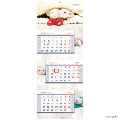 """Календарь настенный квартальный на 2020 год """"Символ года"""" (24,5х64,9 см) — фото, картинка"""