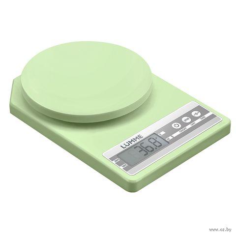 Кухонные весы Lumme LU-1343 (зеленый нефрит) — фото, картинка