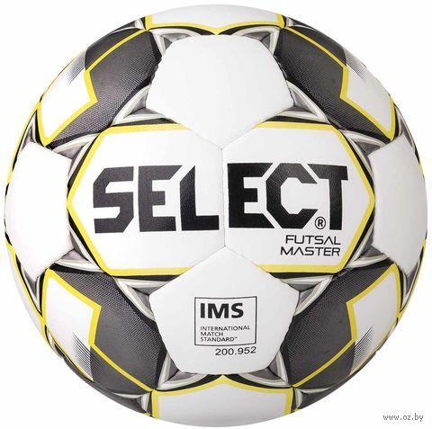 "Мяч футзальный Select ""Futsal Master IMS"" №4 (белый/желтый/черный) — фото, картинка"