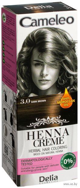 """Краска для волос """"Травяная"""" (тон: 3.0, темно-коричневый)"""