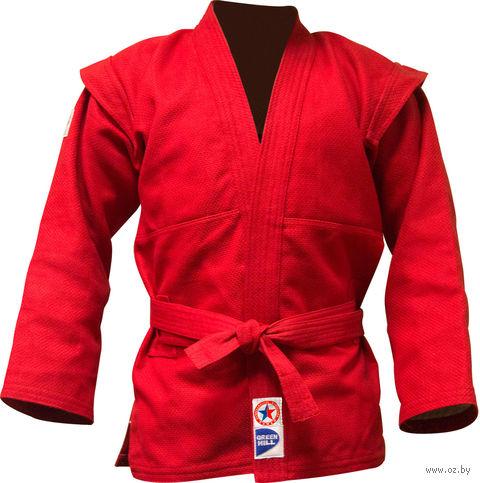 Куртка для самбо JS-303 (р. 5/180; красная) — фото, картинка