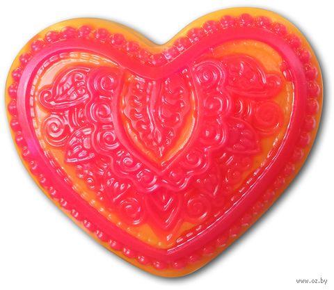 """Форма для изготовления мыла """"Сердце с орнаментом"""" — фото, картинка"""