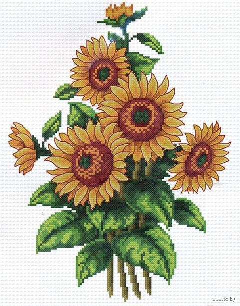 "Вышивка крестом ""Цветы солнца"" (200х270 мм) — фото, картинка"