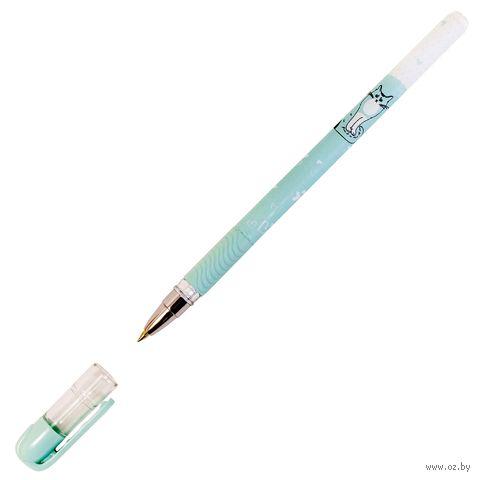 """Ручка шарикова синяя """"Пушистая кошка"""" (0,5 мм) — фото, картинка"""