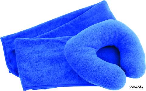 Дорожный набор для сна (2 предмета; синий)
