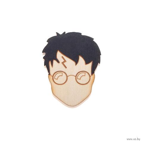 "Значок деревянный ""Гарри Поттер. Гарри"" — фото, картинка"
