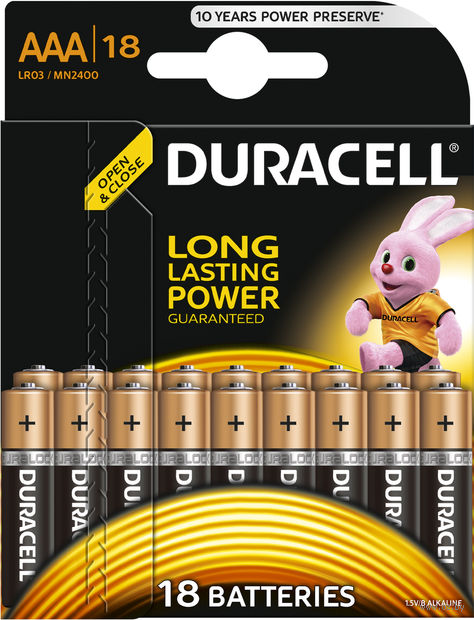 Батарейка DURACELL AAA LR03 MN1500 Alkaline (18 штук)