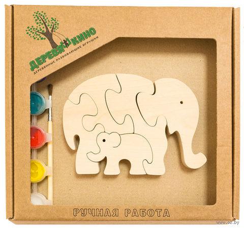 """Набор для росписи по дереву """"Два слона"""" — фото, картинка"""