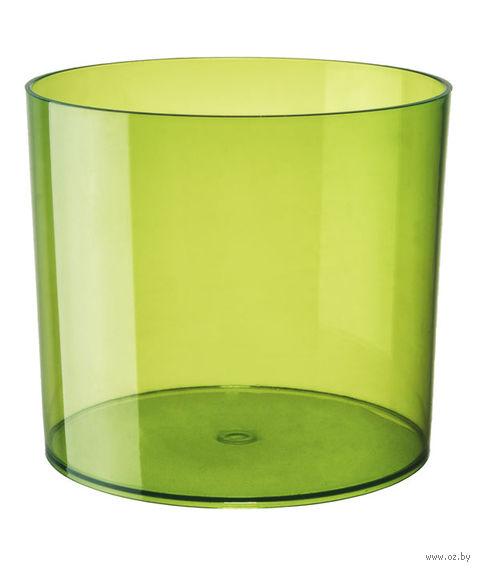 """Цветочный горшок """"Цилиндр"""" (15 см; прозрачный зеленый) — фото, картинка"""