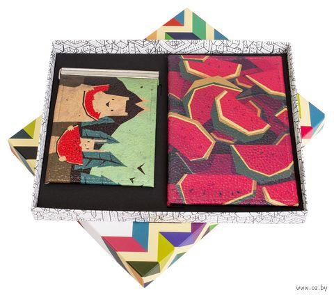 """Подарочный набор """"Арбузы"""" (обложка на паспорт и зажим для денег) — фото, картинка"""