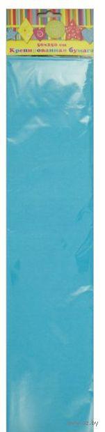 Бумага крепированная (голубой)