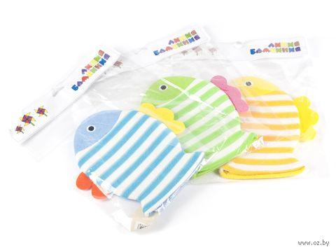 Рукавица массажная детская текстильная (200х230 мм; арт. 5108-2068)