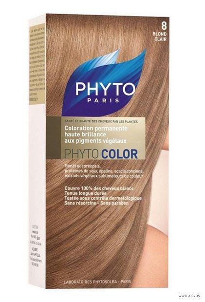 """Краска для волос """"Phytocolor"""" (тон: 8, светлый блонд)"""