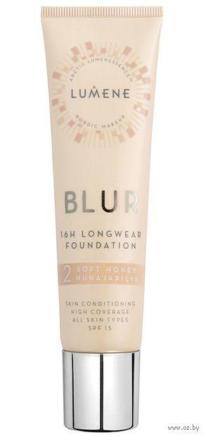 """Тональная основа для лица """"Blur Foundation New"""" SPF 15 тон: 2, soft honey — фото, картинка"""