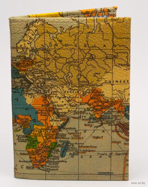 """Обложка на паспорт """"Карта мира"""" — фото, картинка"""
